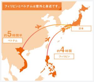 フィリピン・ベトナムから日本へ